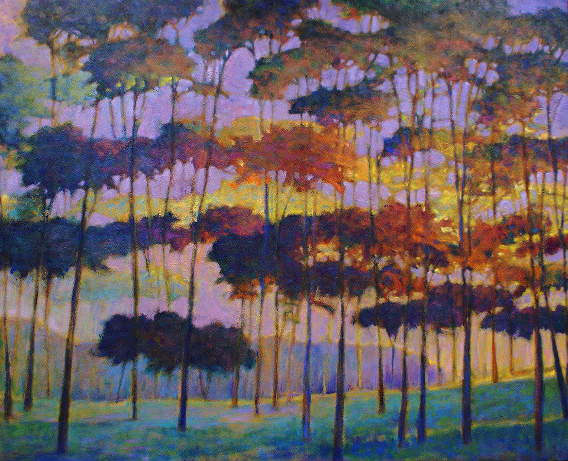 As the Tree Glows / 36x60 / oil on canvas