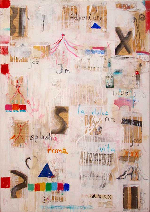 Aventura / 54 x 38 / mixed media on canvas
