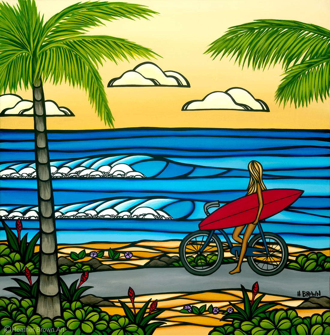 Beach Cruise / 20 x 20 or 30 x 30 / giclee prints on canvas