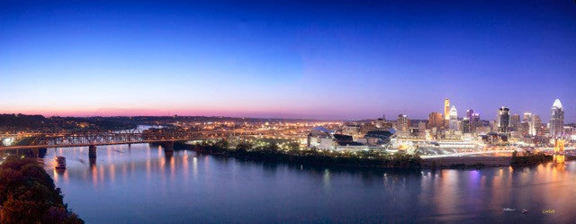 Cincinnati Twilight / 60 x 20 / photography