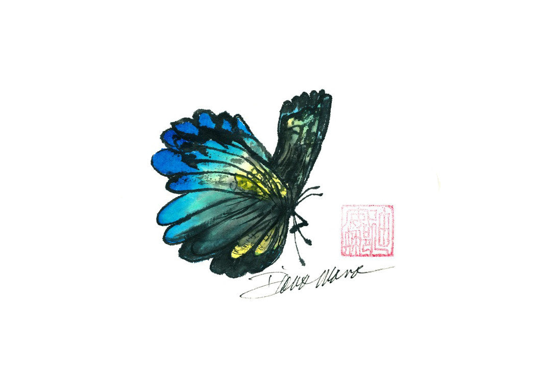 Butterfly 6 / 14 x 11 with mat / giclee print