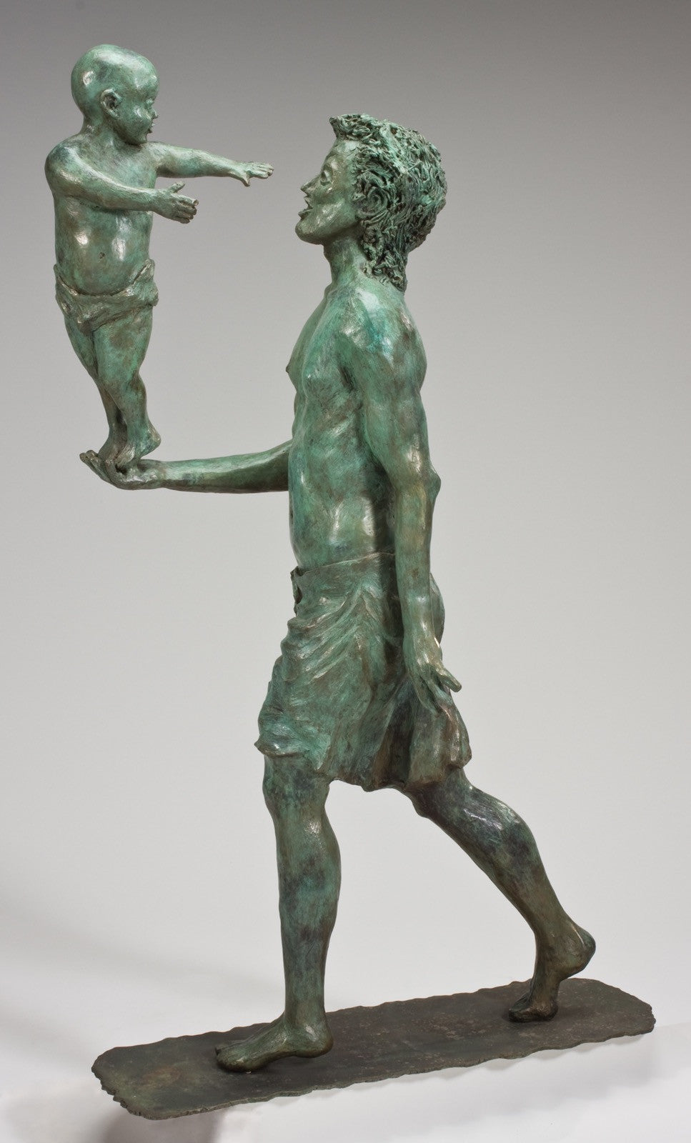 Father and Child / 44x15x24 / bronze