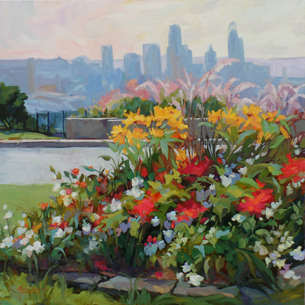 Flower City / 36 x 36 / oil on canvas - giclees available