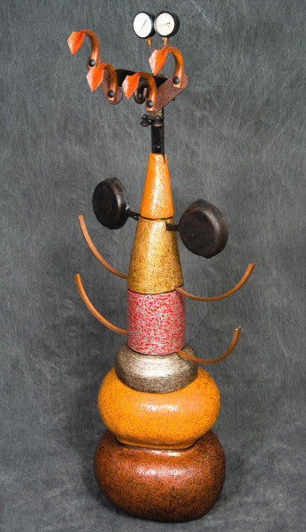 Fly Catcher / 27 x 63 x 18 / terracotta and recycled metal