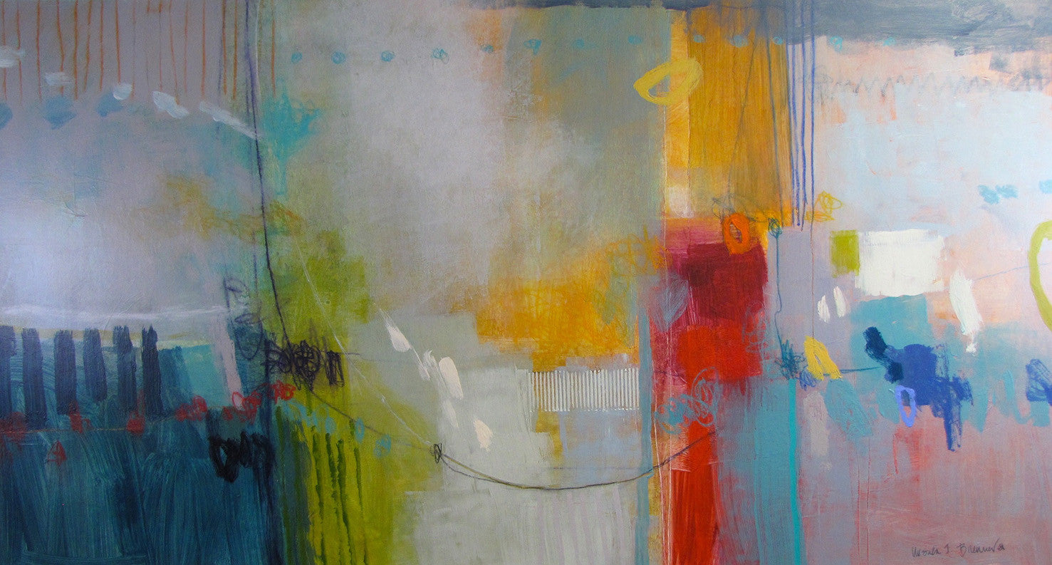 Playing (IMG 4223) / 75 x 40 / acrylic mixed medai on canvas