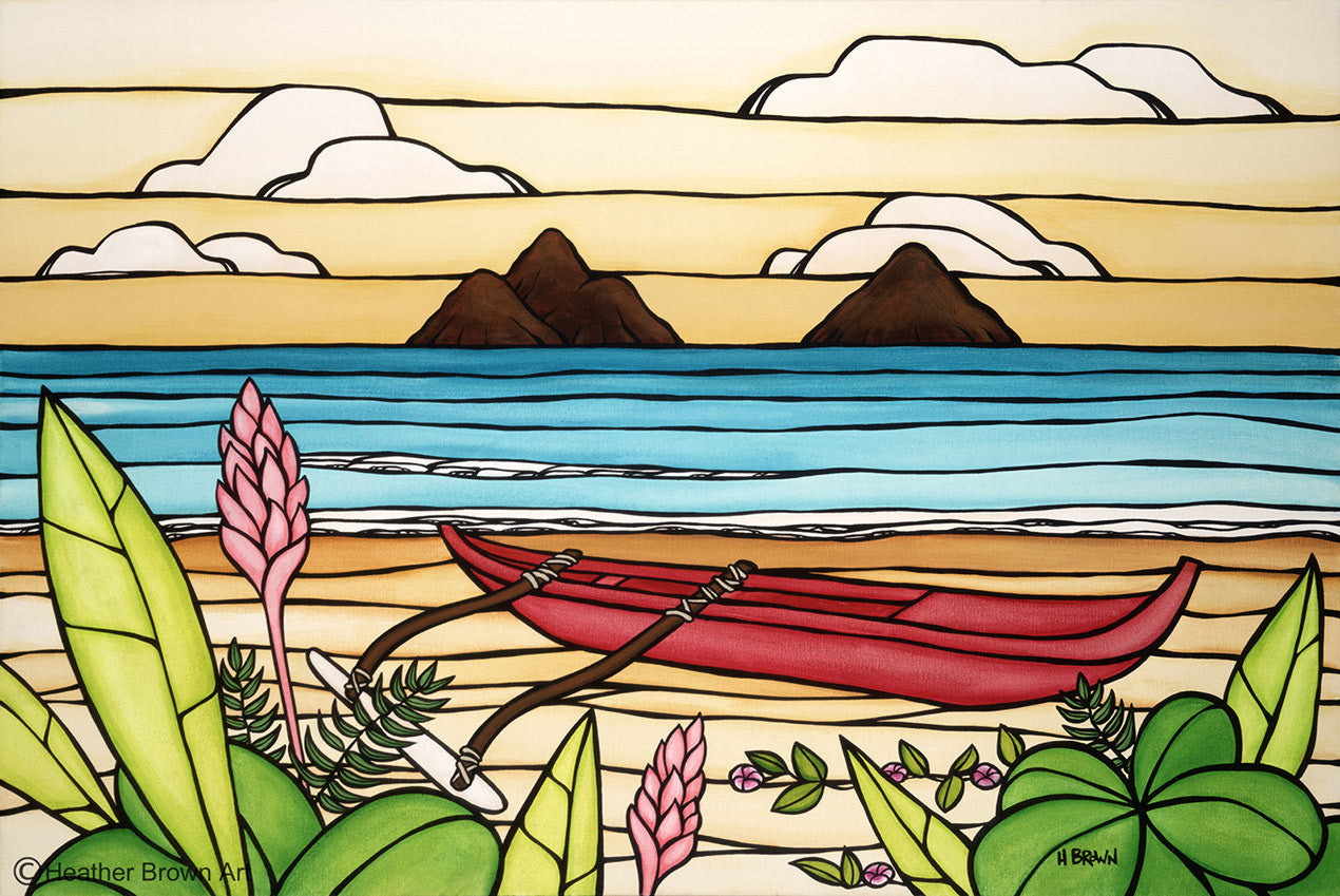 Lanikai Daydream / various sizes available / giclee prints on canvas