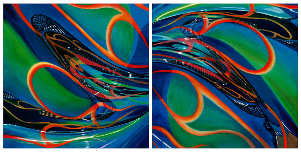 Cross Currents / 60 x 30 / painting on canvas