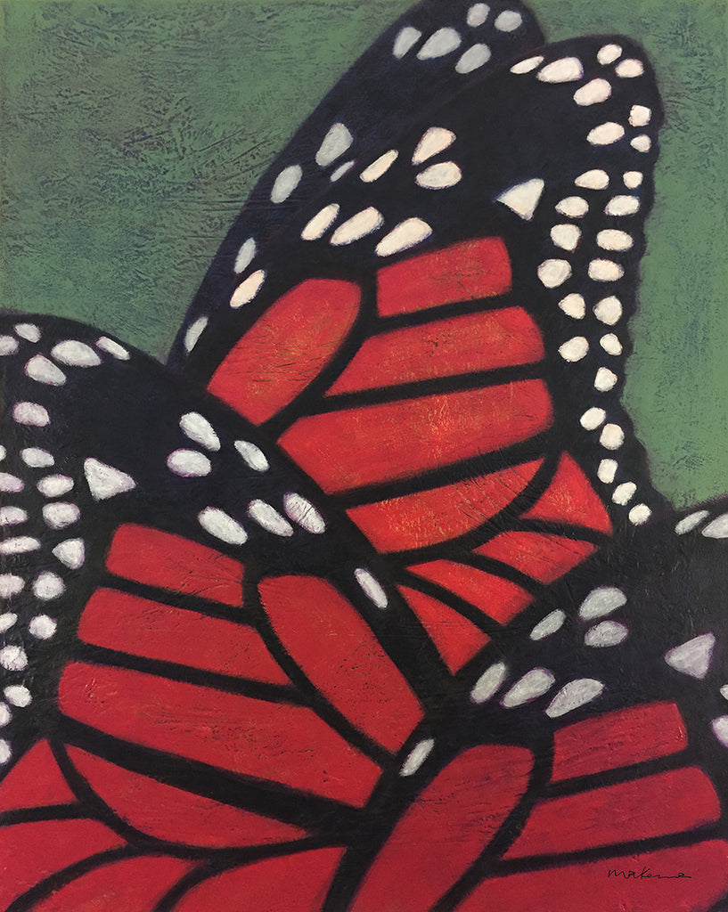 Monarch Migration Pattern / 30 x 24 / acrylic on canvas