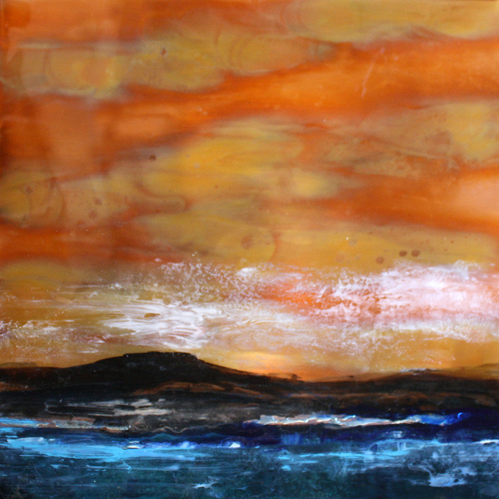 Sunset Series / 23 x 23 / copper