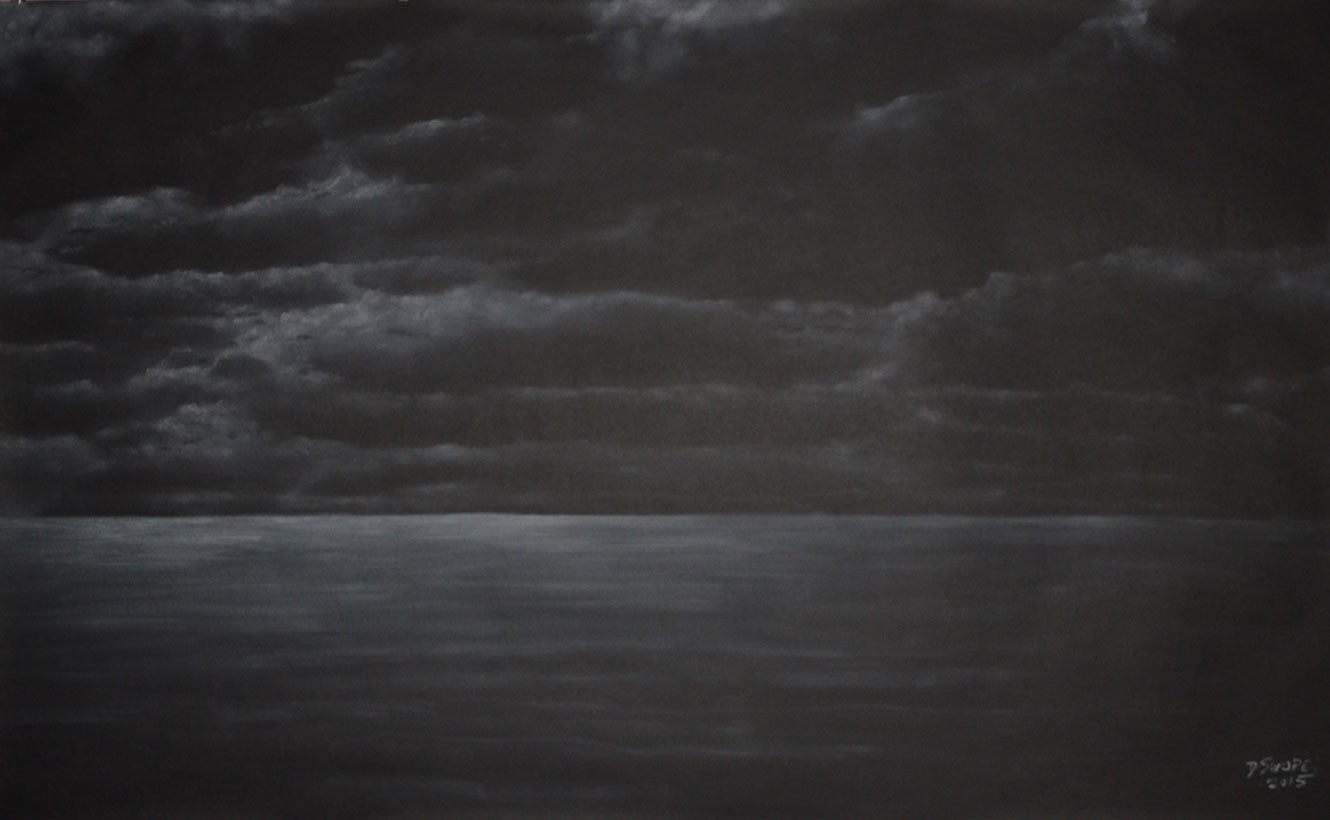 Staring at the Sea / 59 x 36 / chalk on paper