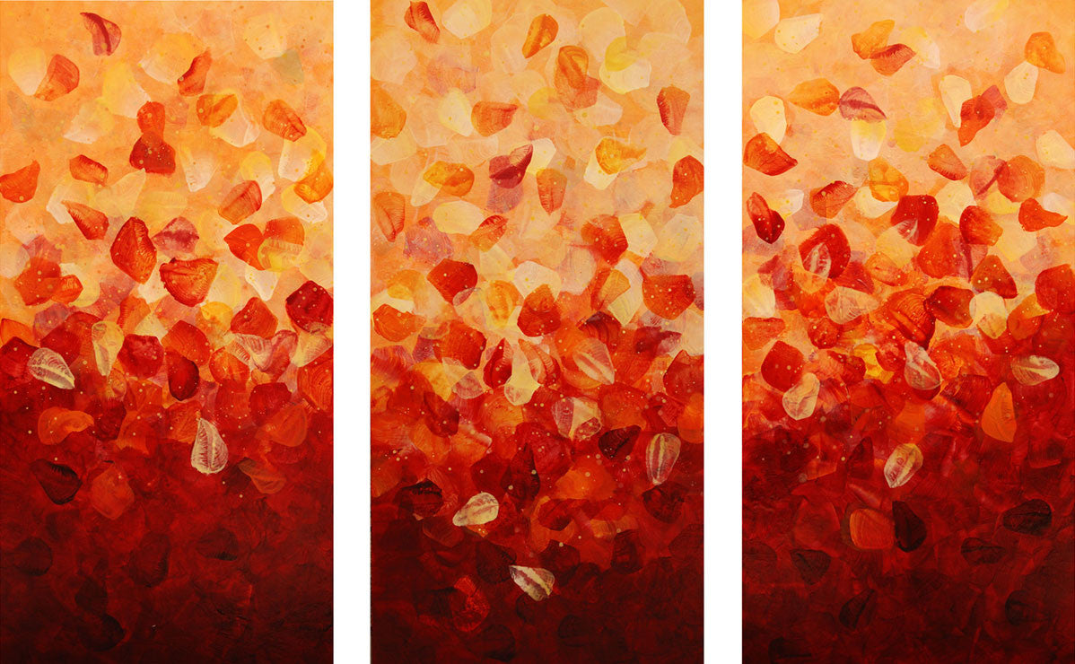 Still Falling (Triptych) / 80 x 48 / acrylic on canvas