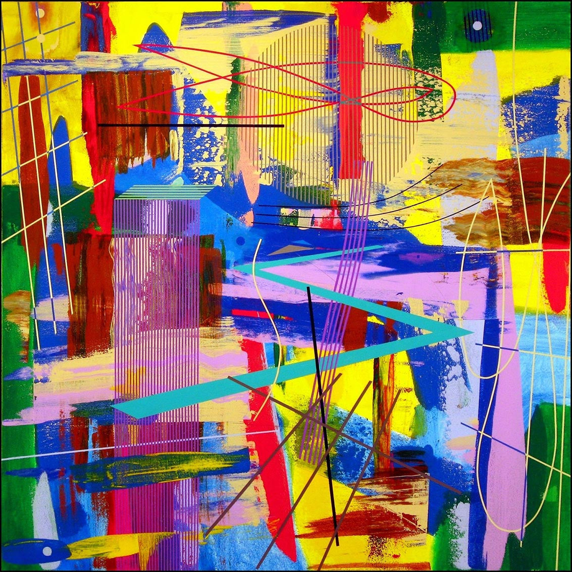 Stratascape / 48 x 48 / acrylic on canvas