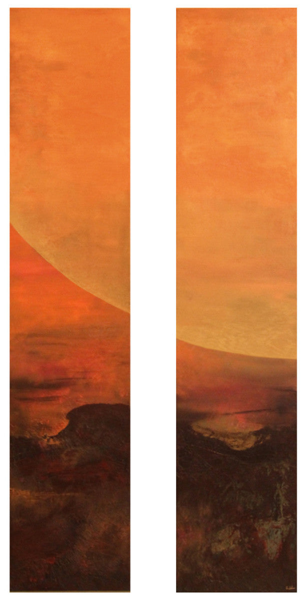 The Rising / 10 x 48 each / oil paint on gallery wrap canvas