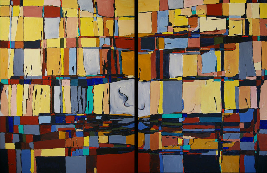 Variations / 72 x 48 / Acrylic on canvas diptych