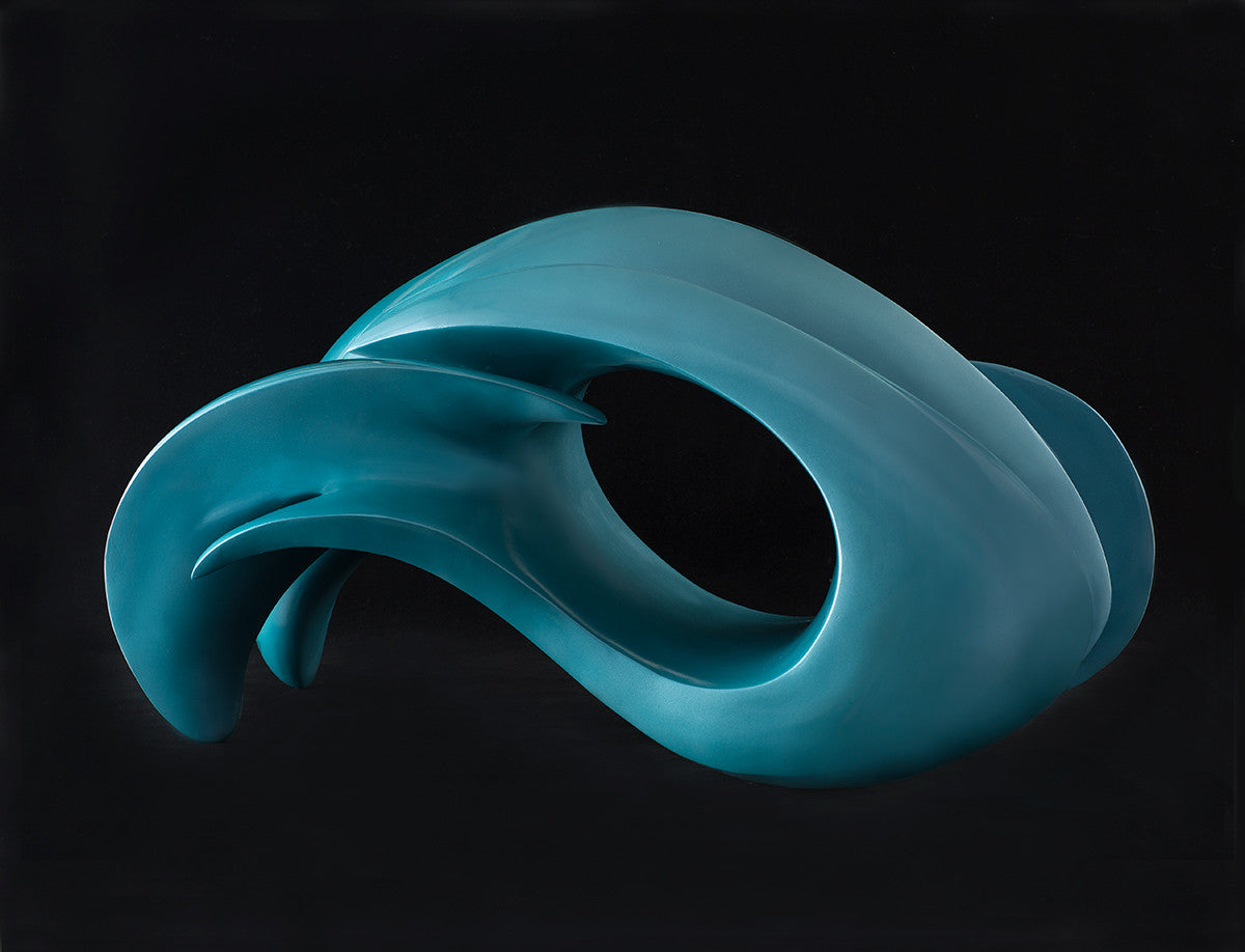 Wave Form V / 19.5 x 36 x 12.5 / painted bronze