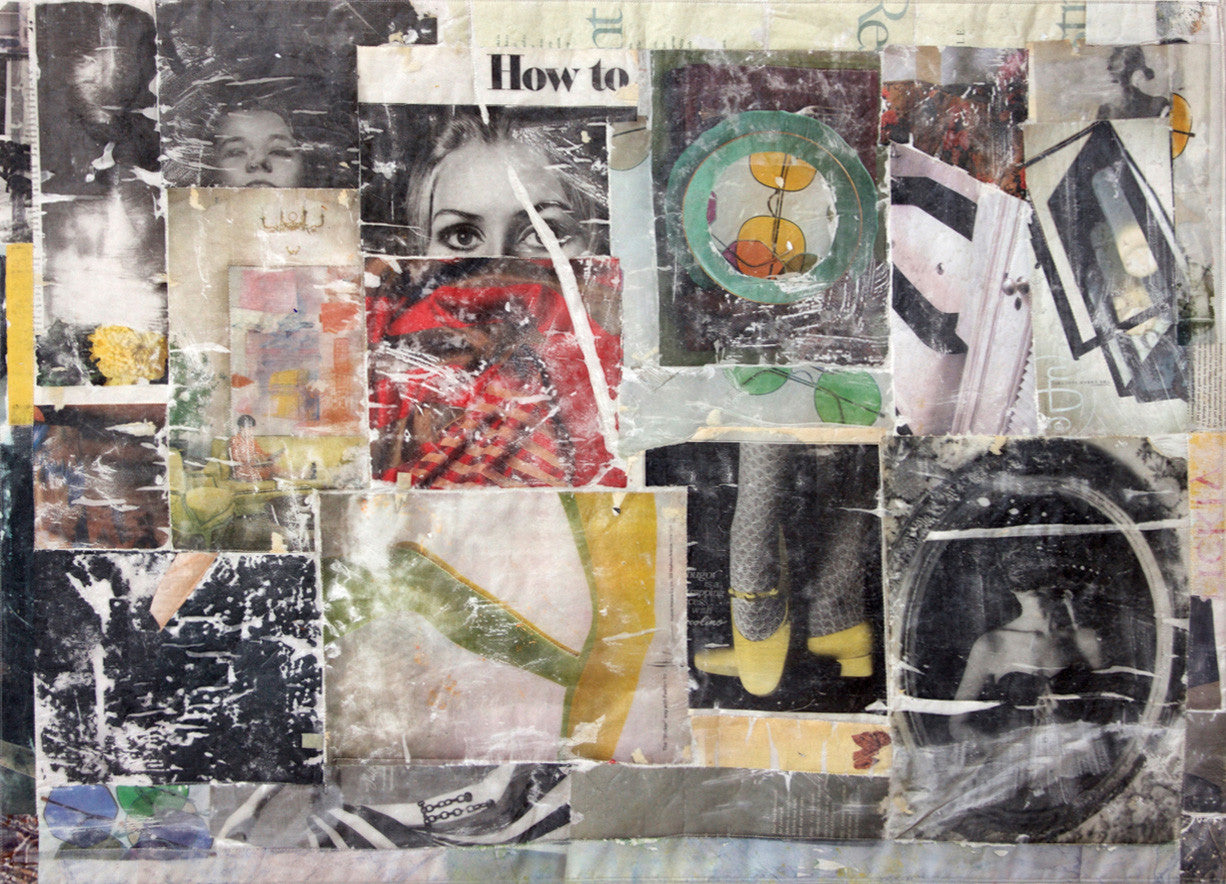 Yellow Shoes / 42 x 31 / collage