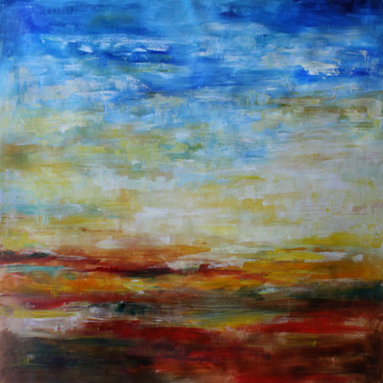 Abstract Landscape / 44 x 44 / painting on canvas