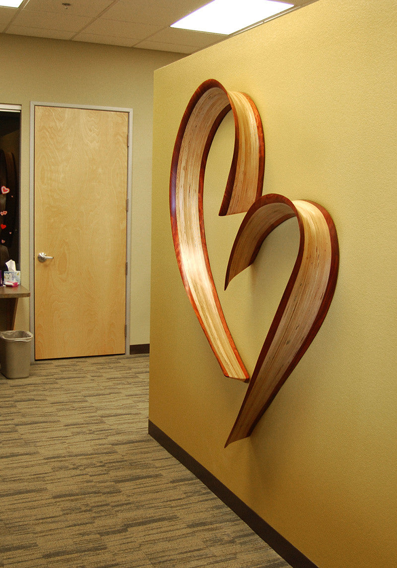 Chatham Heart / 72 x 72 x 6 / baltic birch & bubinga