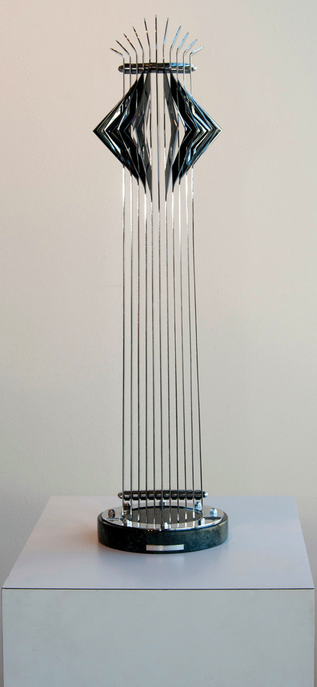 Diamond Chrome Tower / 12 x 25 / Chrome on metal