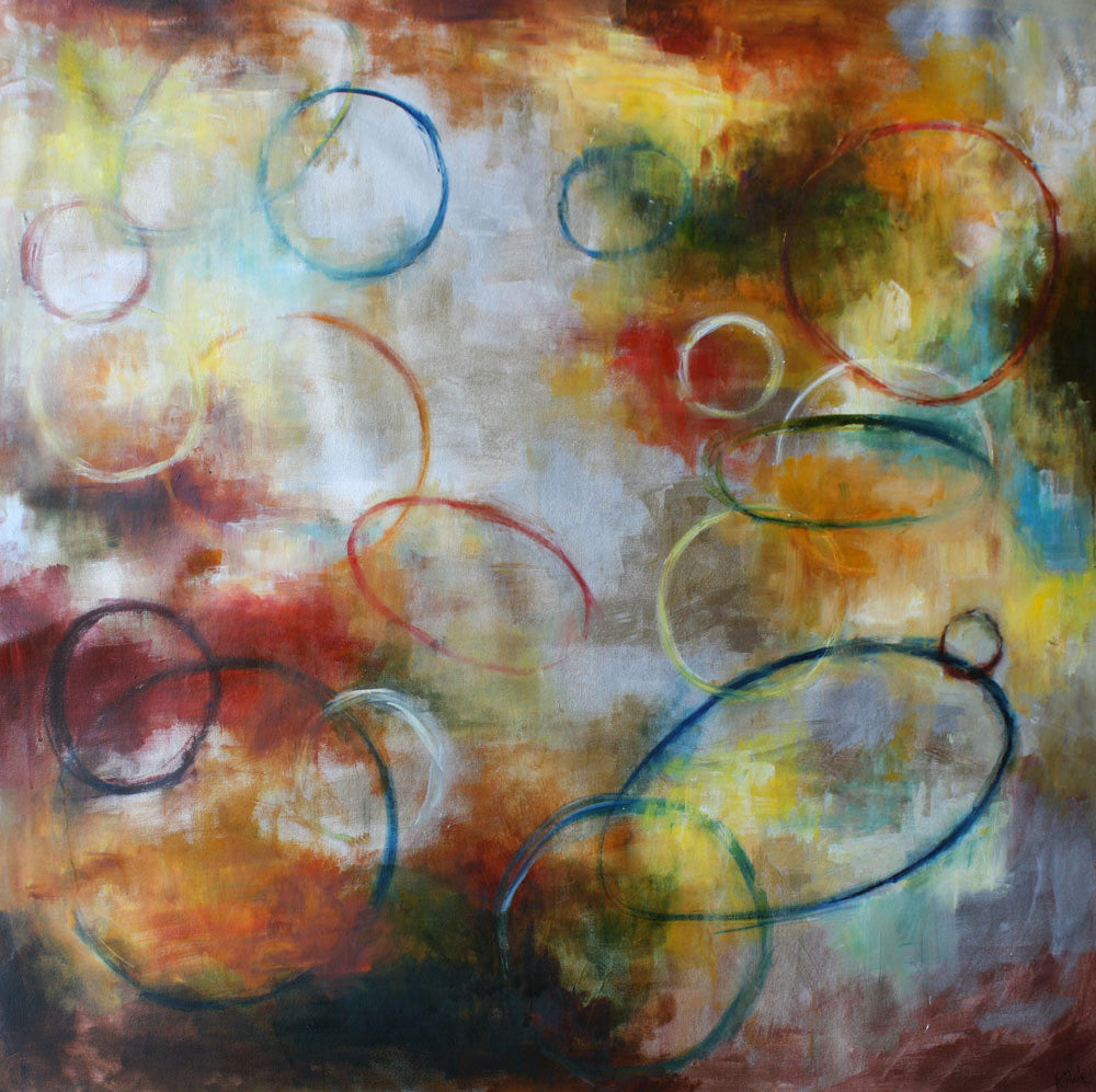 Circle Space / 48 x 48 / painting on canvas