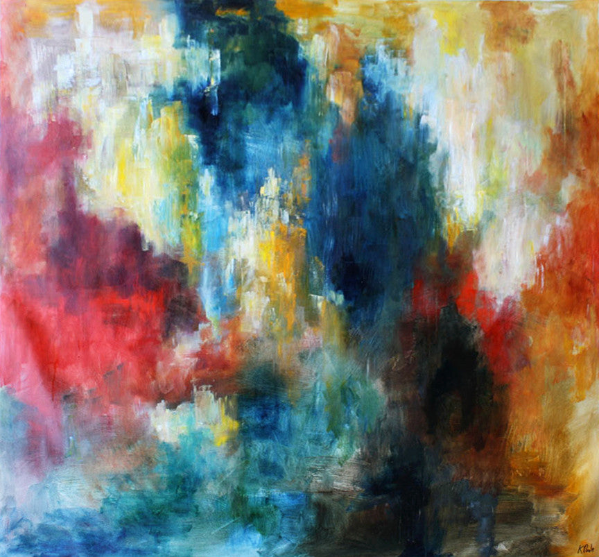 Color Splotch / 48 x 48 / painting on canvas