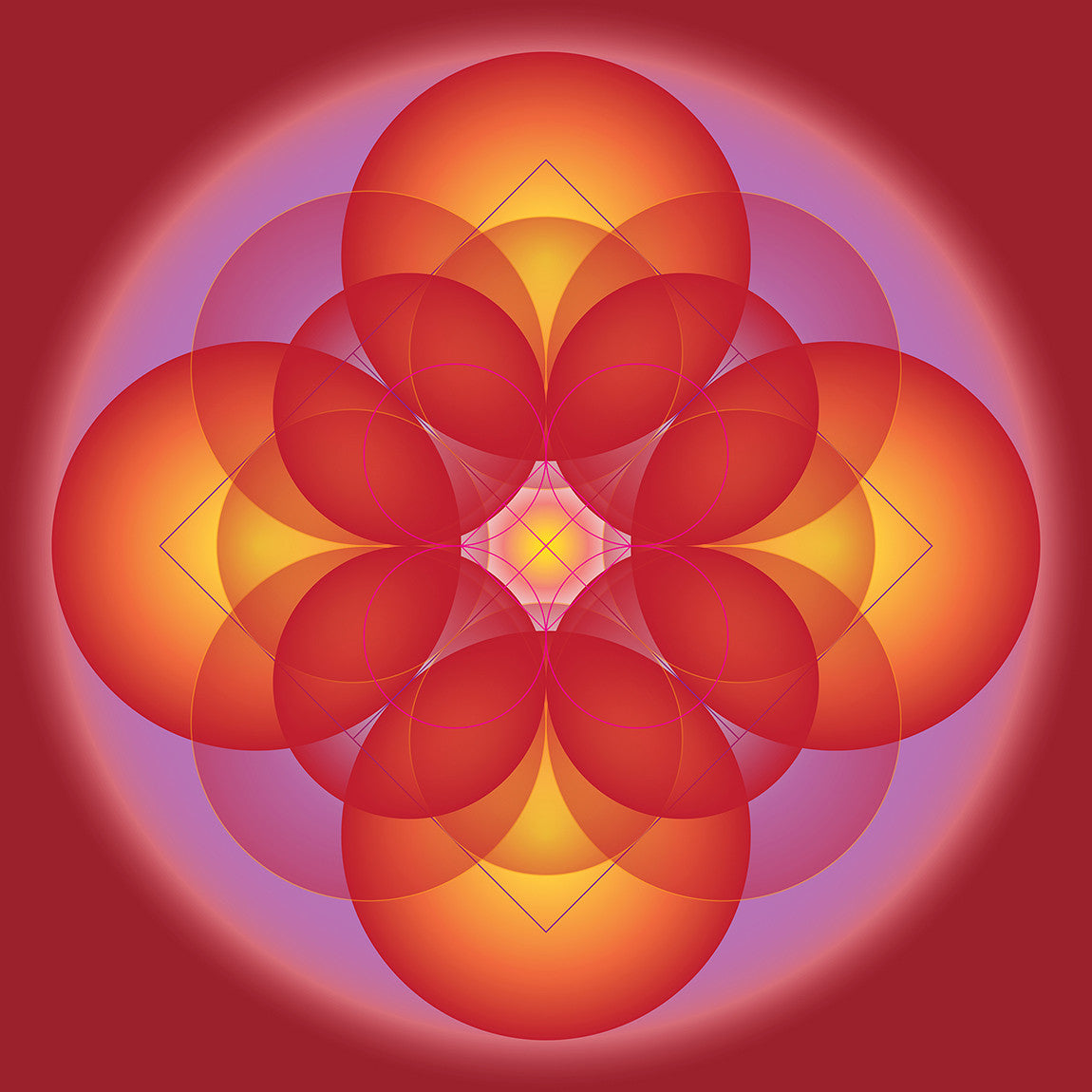 Root Chakra / 8 x 8 to 40 x 40 / printed on canvas