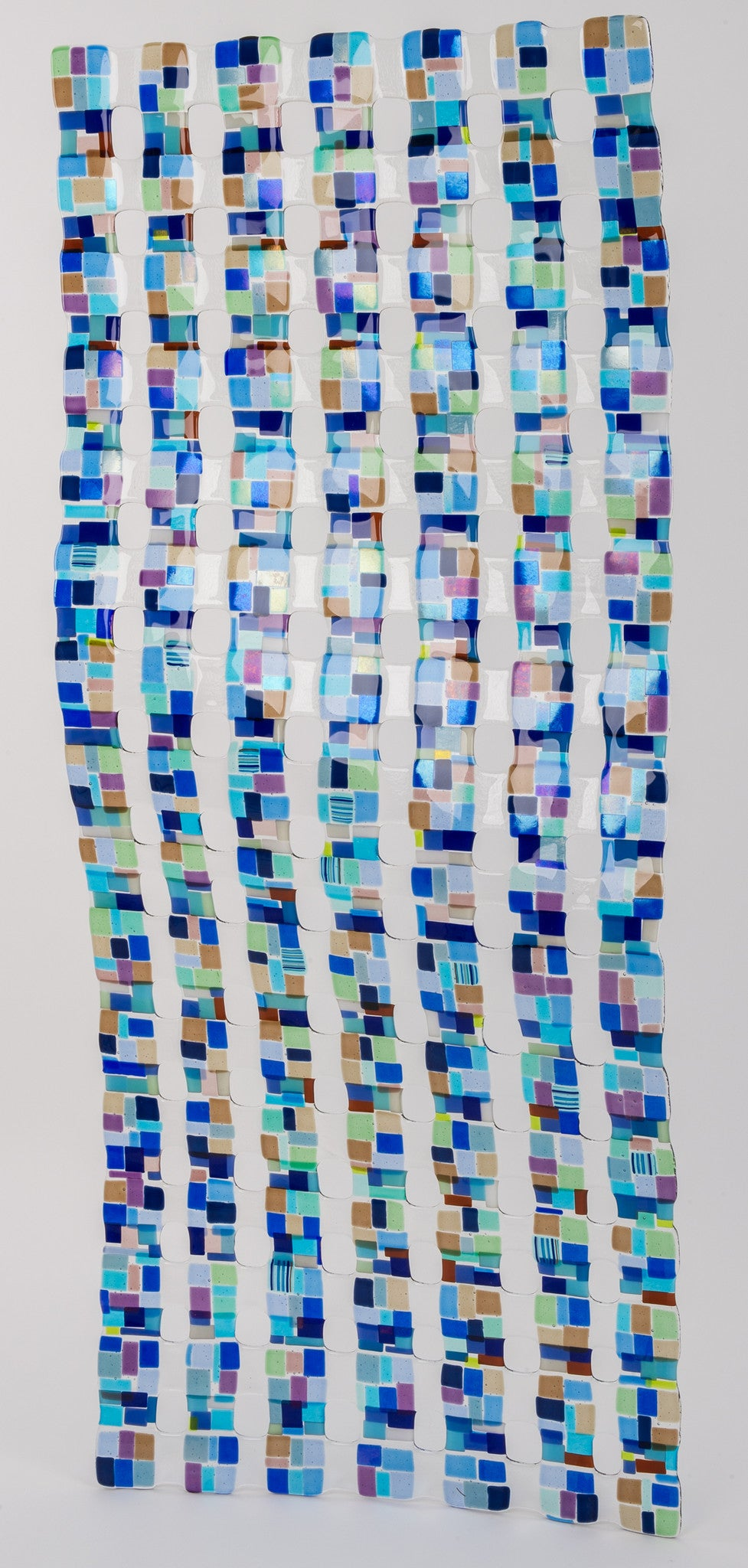 Large Retro Mesh 2 / 24 x 60 / fused and bent glass