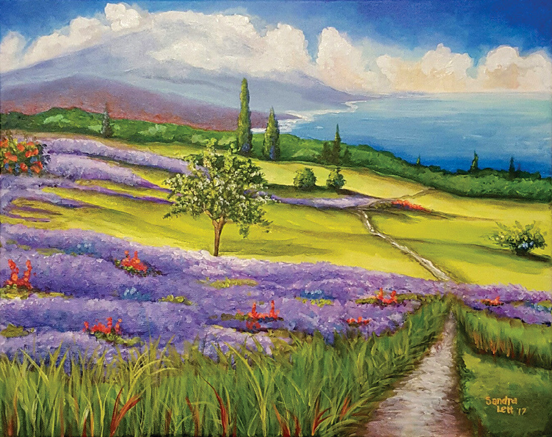 Lavender Fields / 20 x 16 / acrylic on canvas