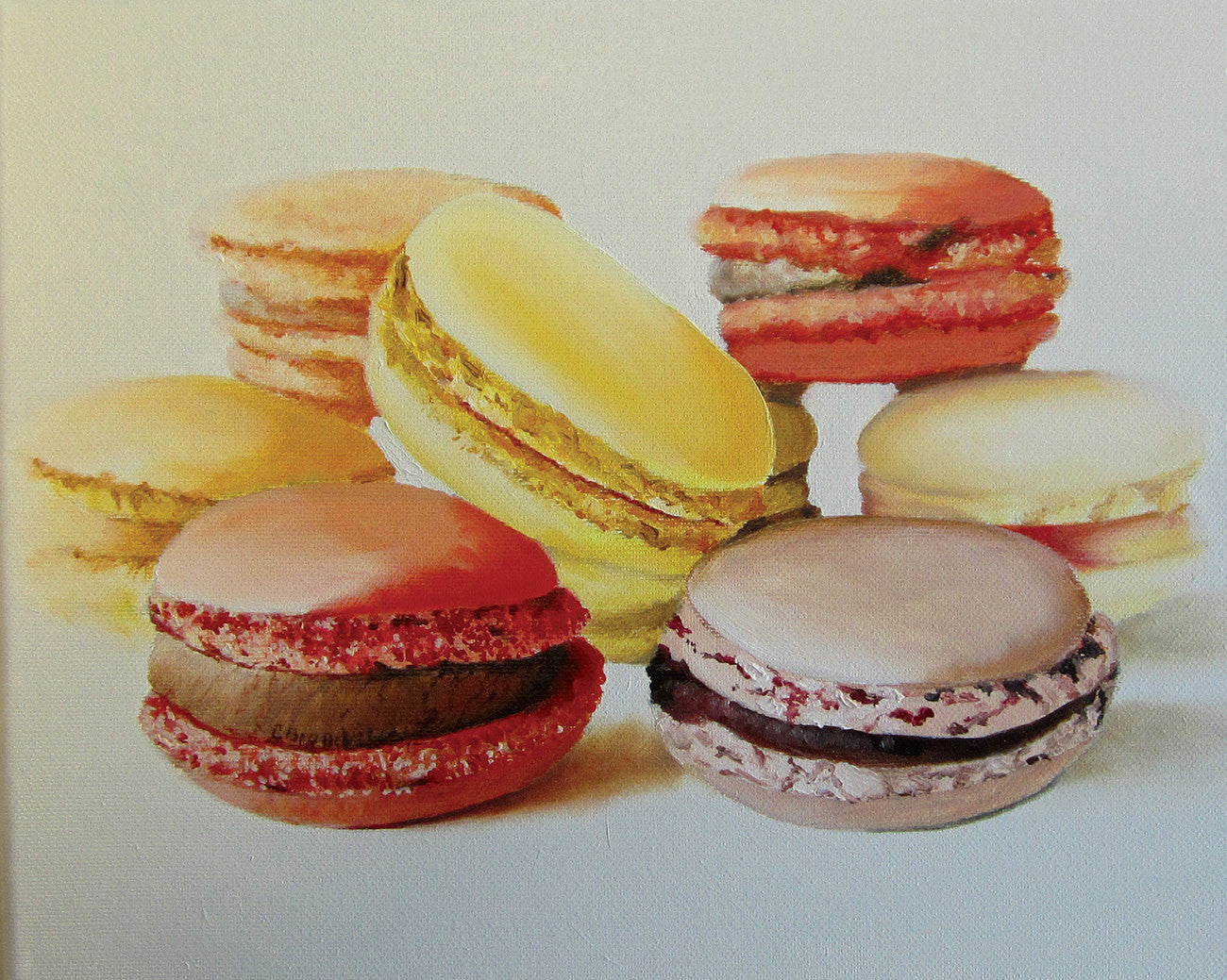 Macaroons / 12 x 9 / oil on canvas