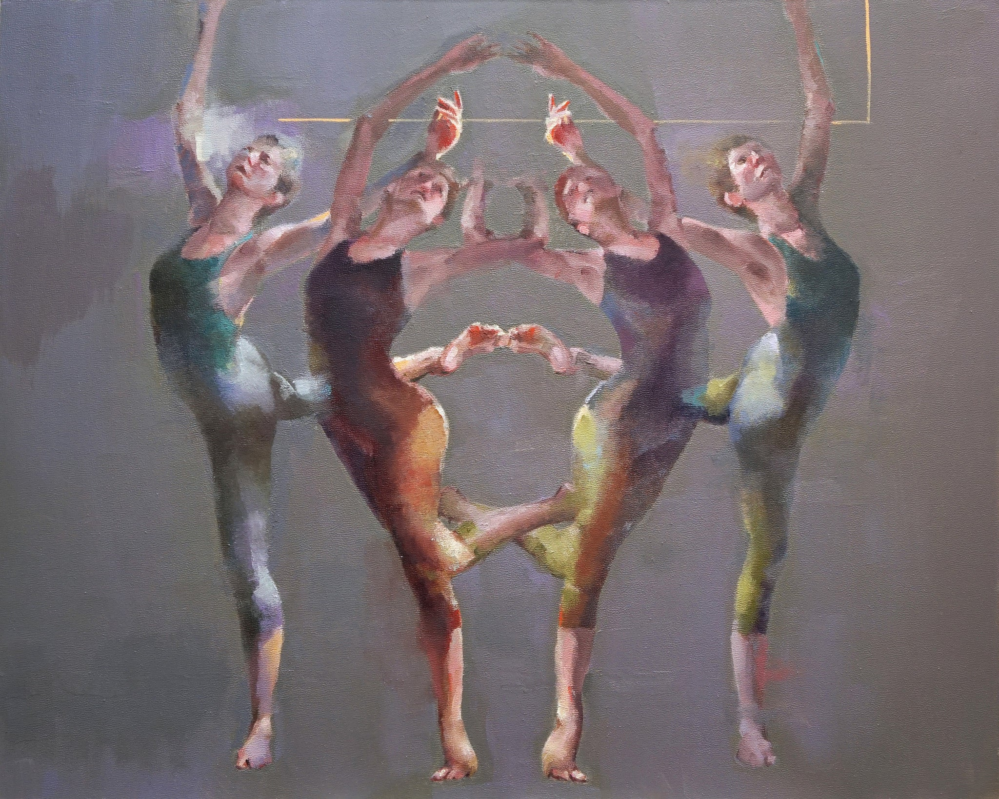 Dancers in Duo / 20 x 16 / oil on canvas