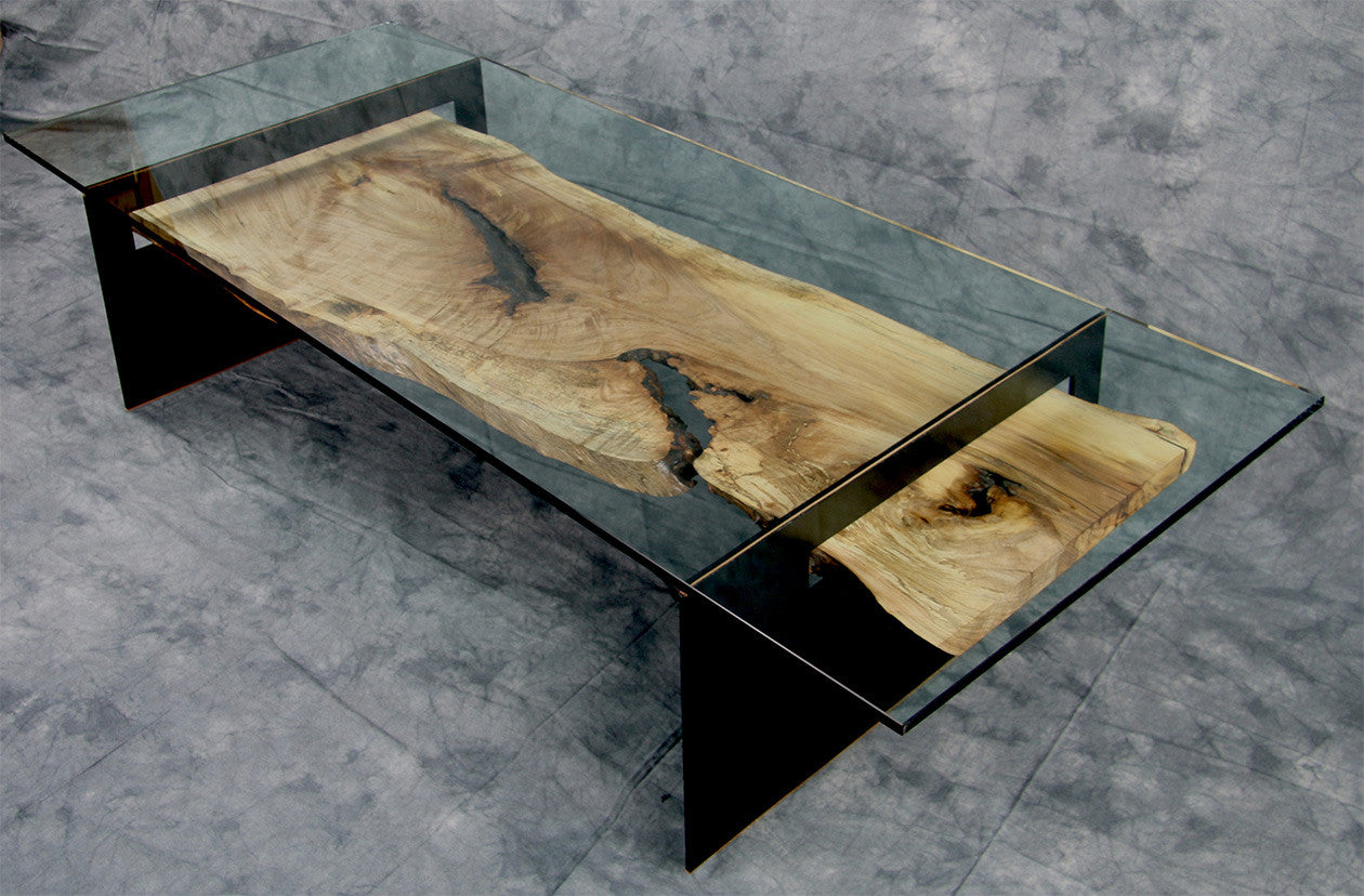 SUBDUCTION / 60 x 14 x 24 / wood - steel - leather and museum glass
