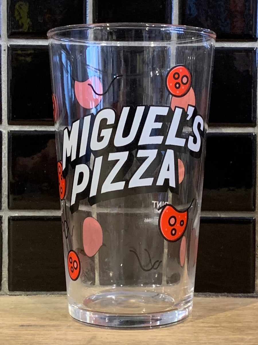 Miguel's Pizza Pale Ale Pint Glass