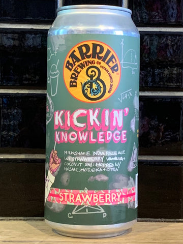 Barrier Kickin' Knowledge Strawberry Milkshake IPA