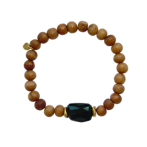 The Elements Collection: Earth: Mala Black Onyx Sandalwood