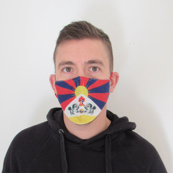 Tibetan Flag Face Mask