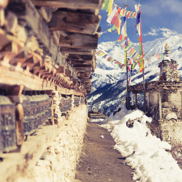 Prayer Wheels in the Snow