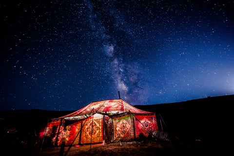 Tibetan Nomad Tent Greeting Card