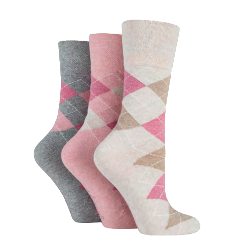 Women's Socks Pink Grey White