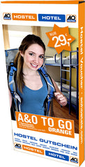 "Hostel Gutschein ""A&O TO GO orange"" (Geschenkbox)"