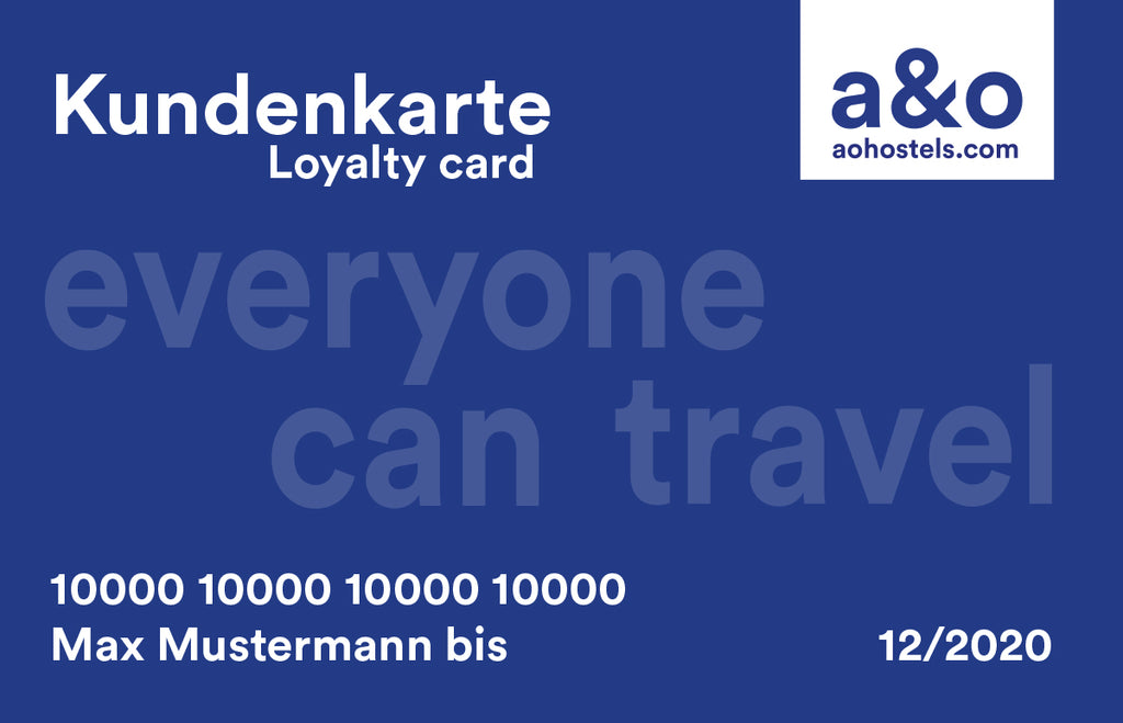 a&o Loyalty Card - benefits for frequent guests at a&o Hotels!