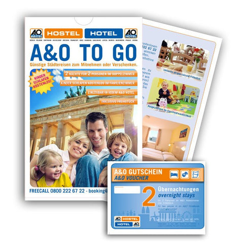 "Hotel Voucher ""A&O TO GO blue"" (Gift box)"