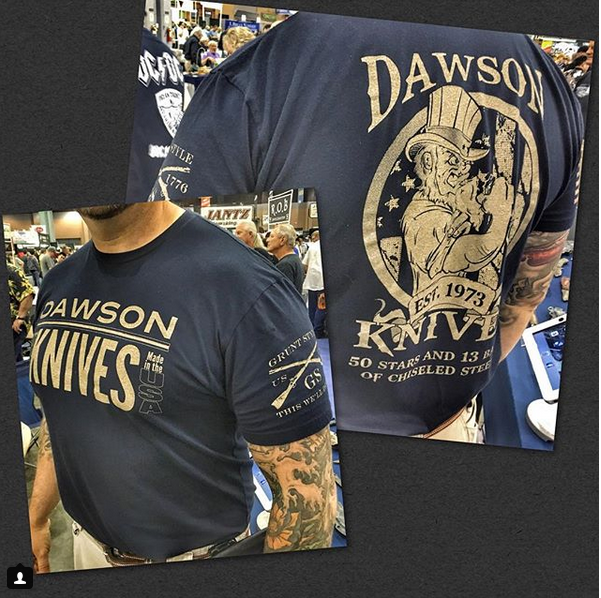 2018 Dawson Knives Grunt Style Tee Shirt Awesome Gear - Dawson Knives