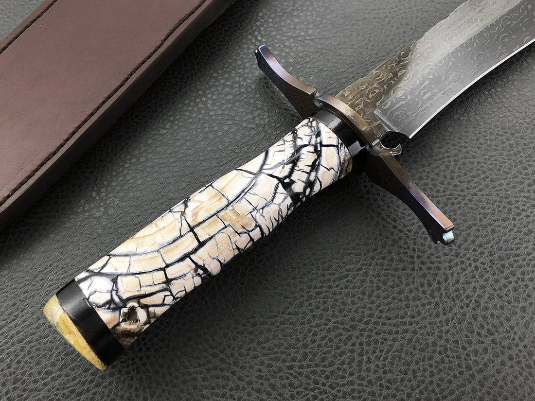 Limited Edition 003 Crockett Select Bowie | Anodized Damtanium | Mammoth Ivory