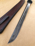 Select Japanese Wakizashi Sword | Blue Anodized Tsuba | Maple Burl