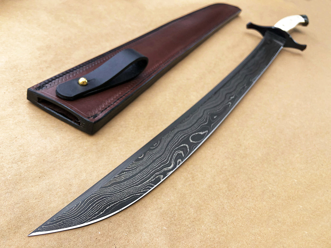 Seraphim | 001 One of a Kind Select Scimitar Sword | Mammoth Ivory