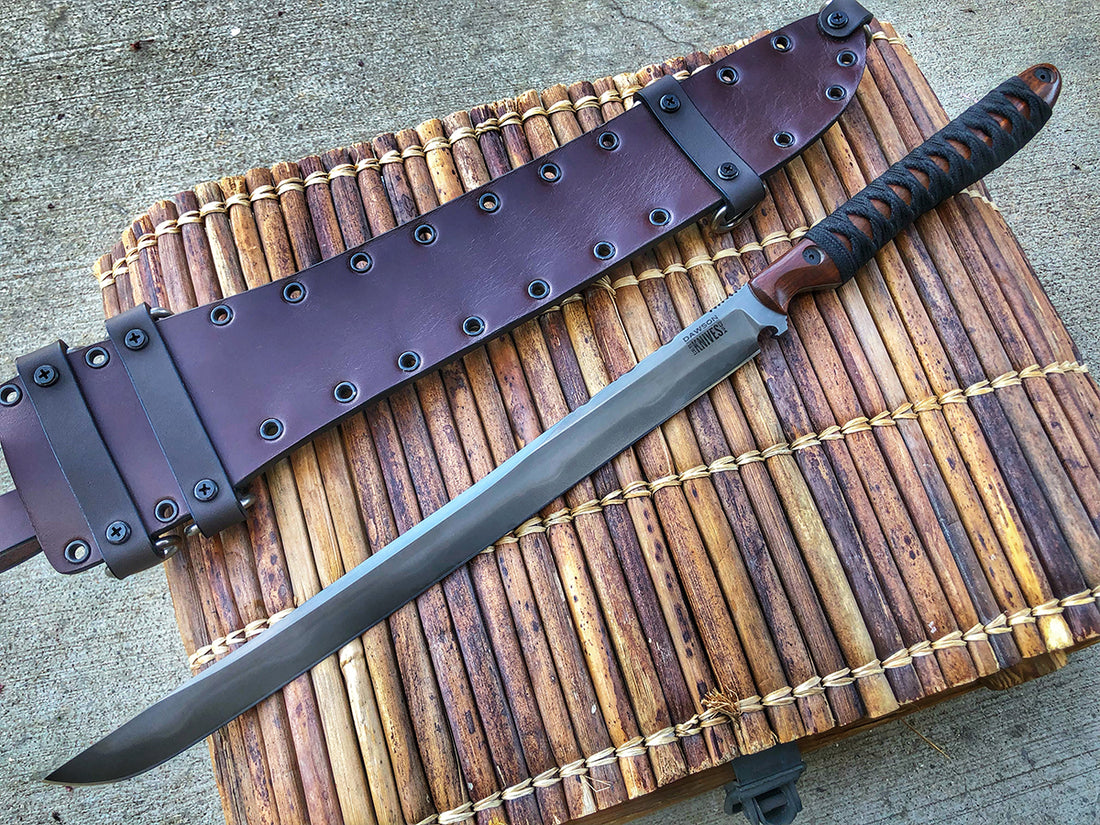 "Dark Knight | 14"" Shinobi Sword w/ Hamon 