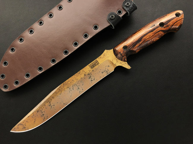 CPM-3V Mountain Man Bowie | Arizona Copper Finish