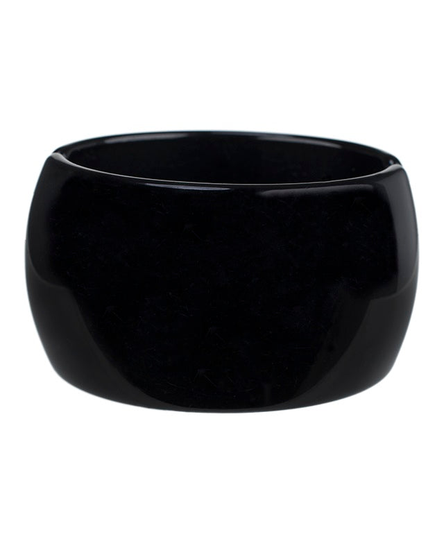 Black Resin Wide Cuff