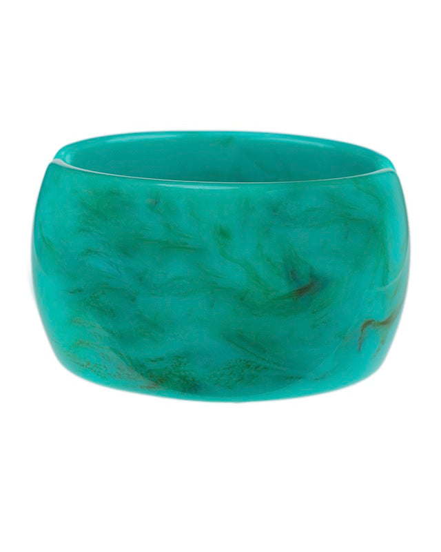 Turquoise Resin Wide Cuff