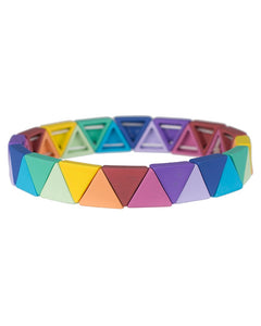 Rainbow Triangle Pattern Stretch Bracelets